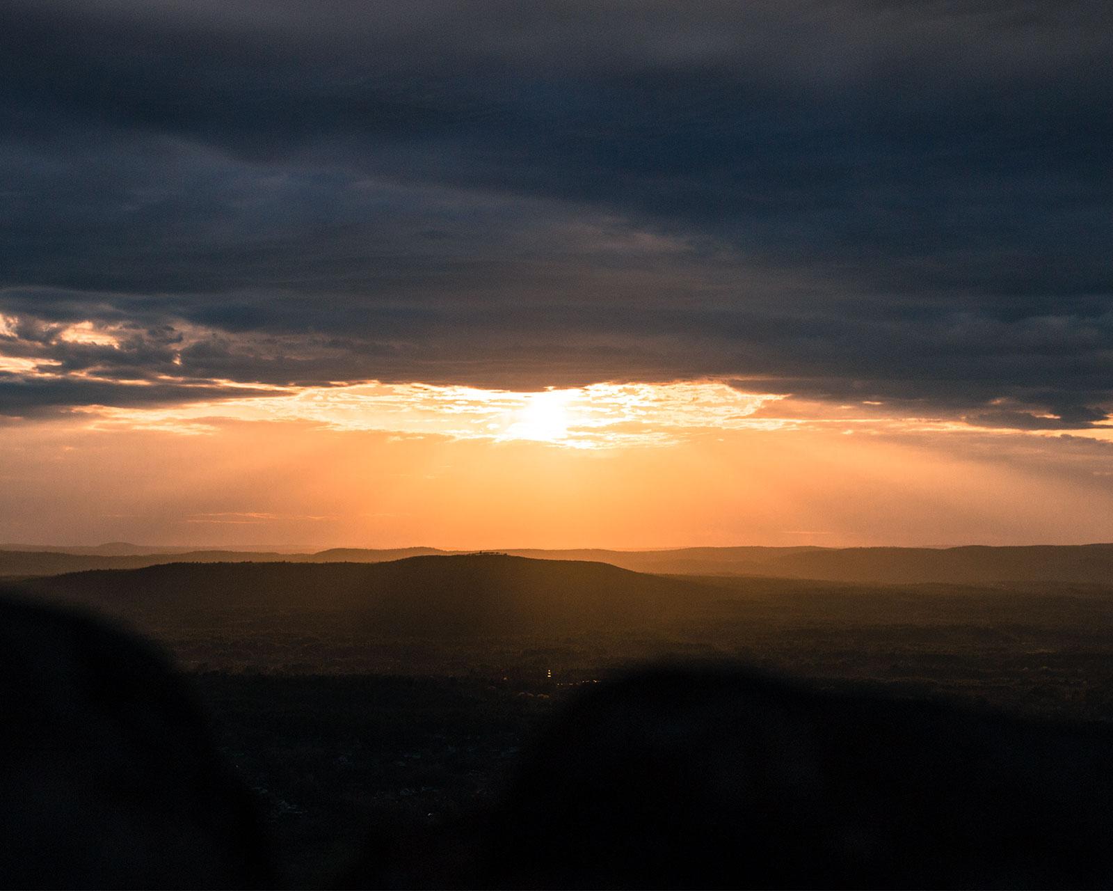 Sunset over Easthampton Massachusetts