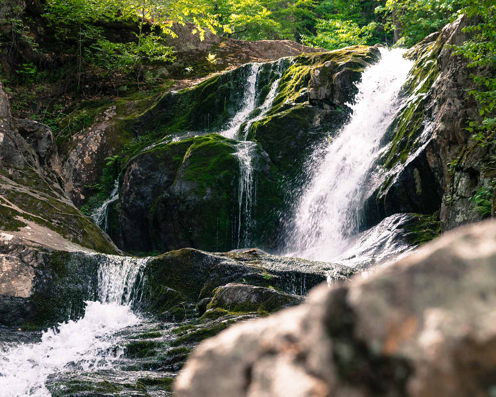 Sanderson Brook Falls waterfall in Chester Massachusetts