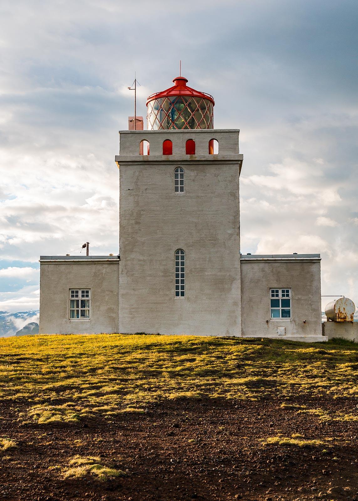 Dyrhólaey lighthouse with a beautiful sky
