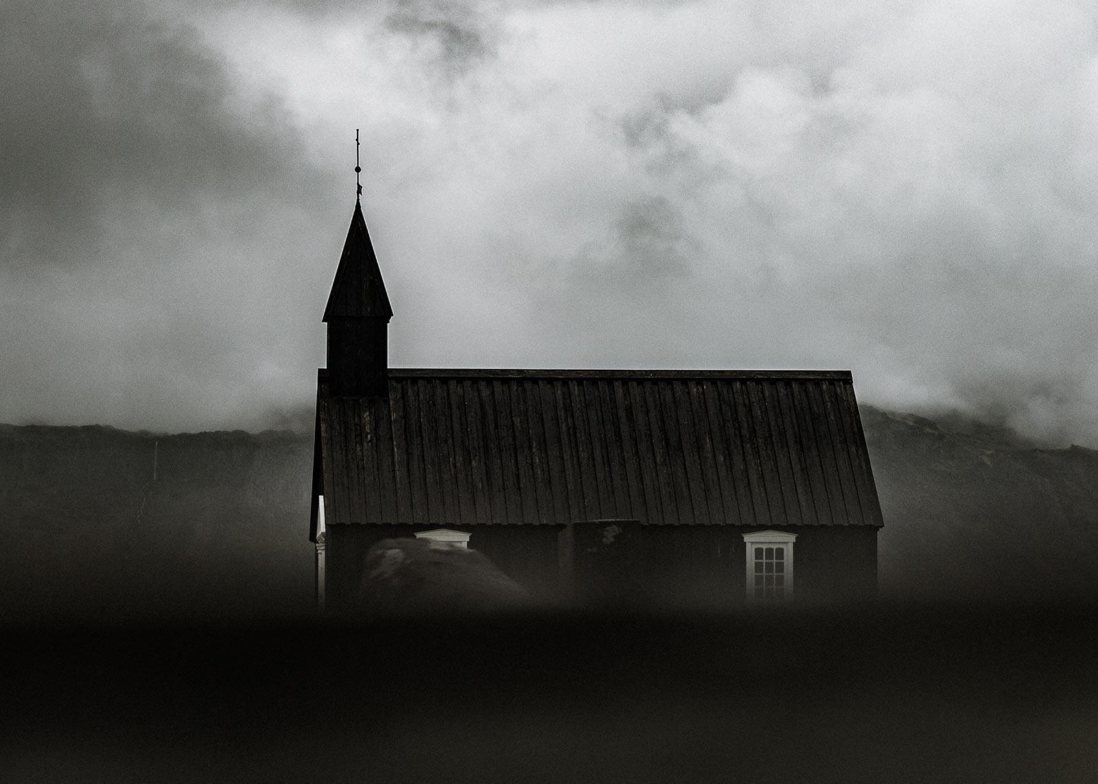 Búðakirkja the black church in Iceland