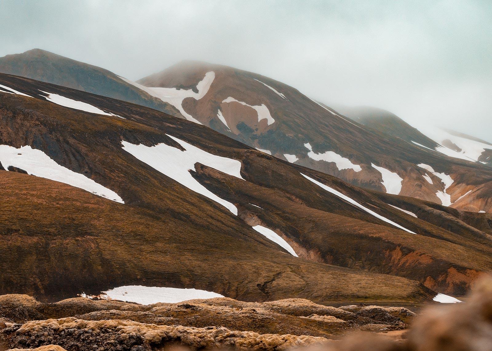 Landmannalaugar mountains and landscape
