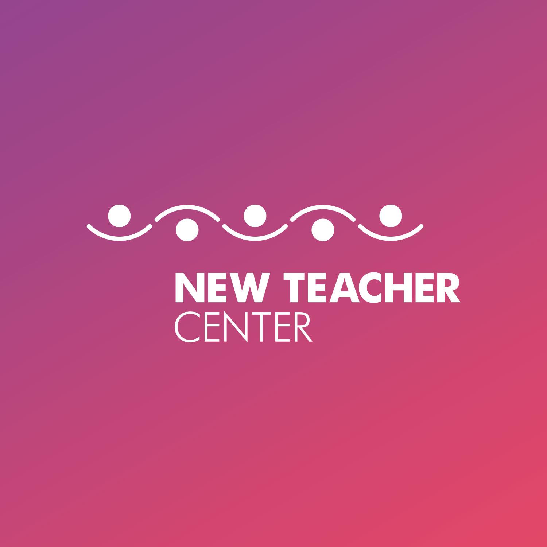New Teacher Center logo design in white