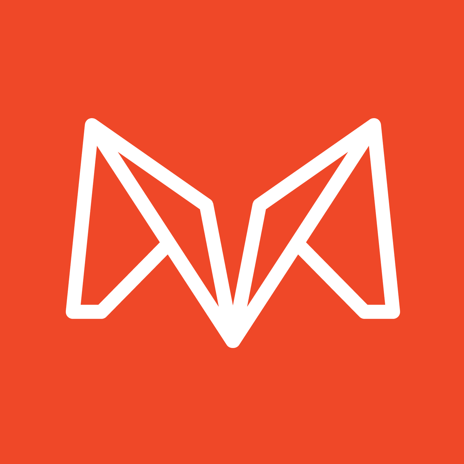 Logo design of abstract letter M