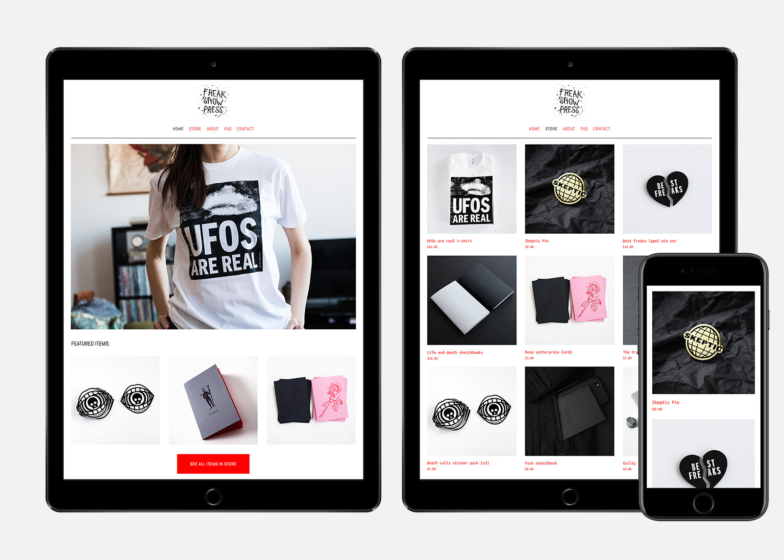Apparel e-commerce website design and layout