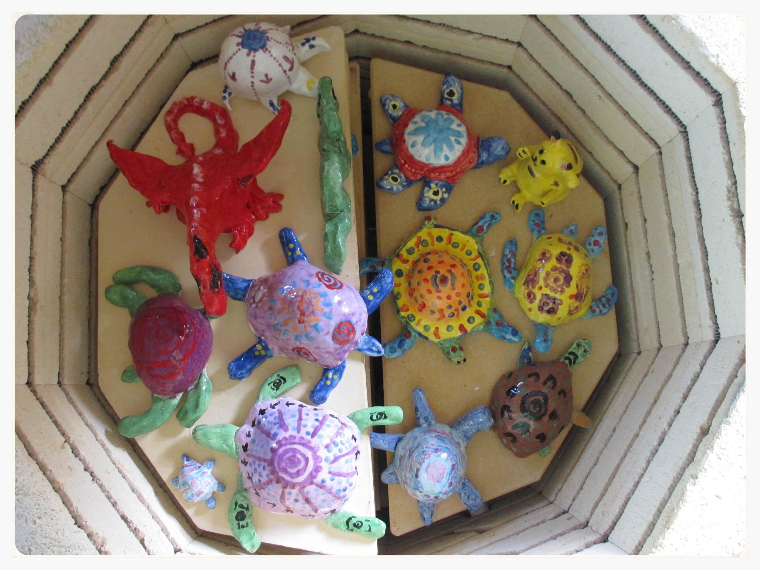 A look inside the kiln.