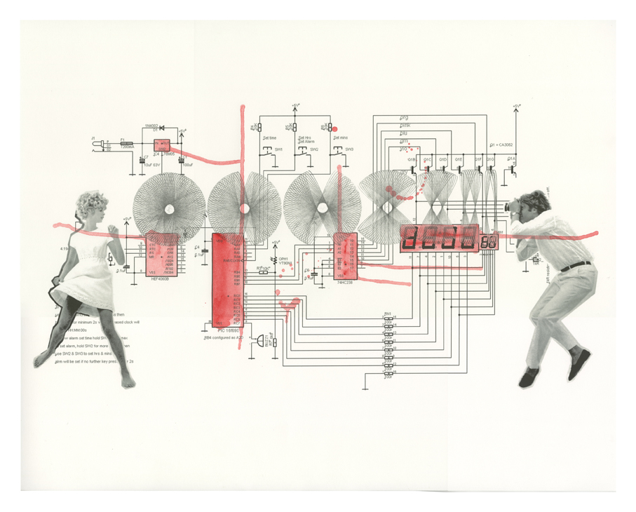 Your time or mine? (part 2), 2011, inkjet print on graph paper, 60 x 84 cm