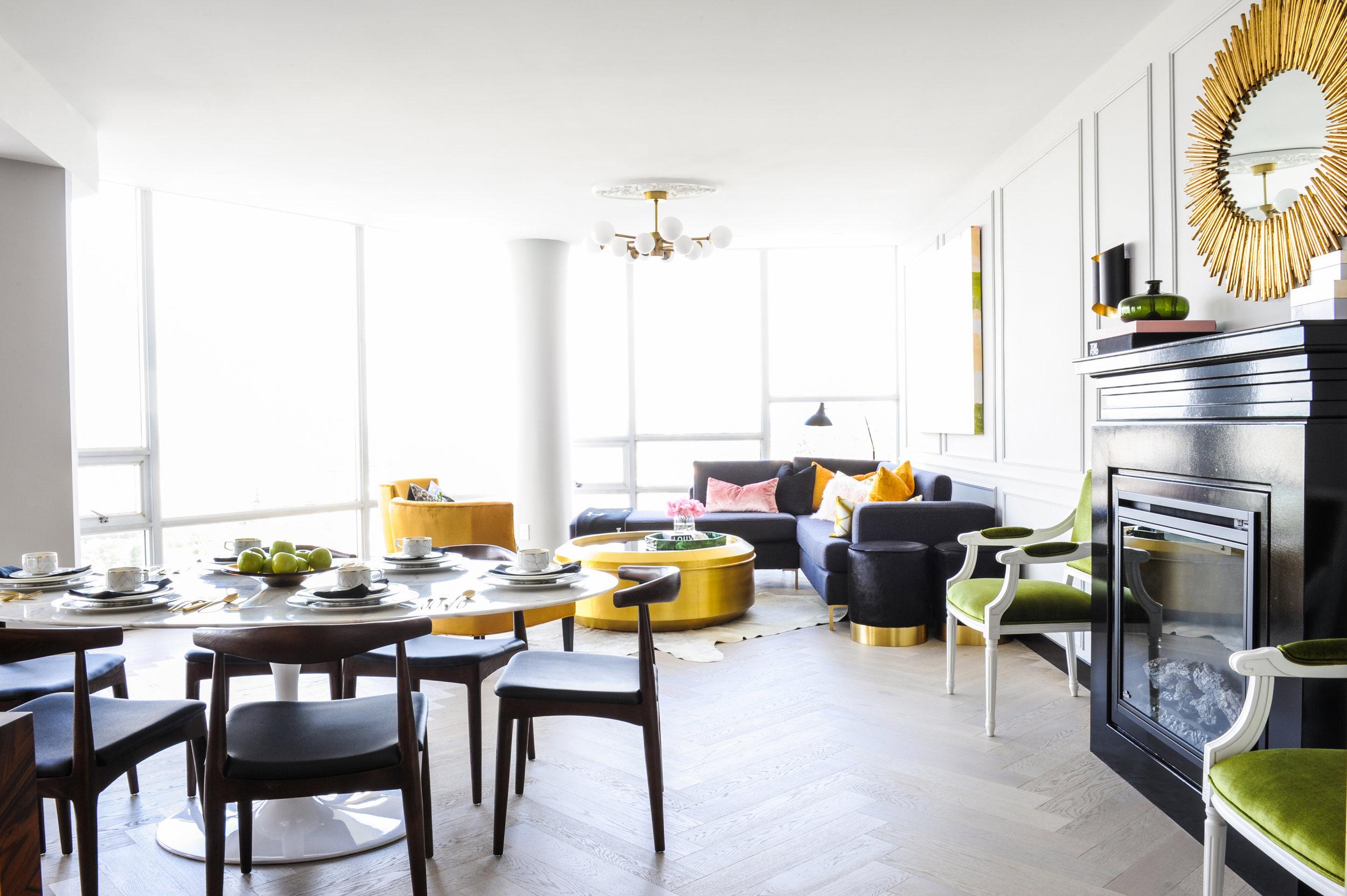 Living Room & Dining Room Design