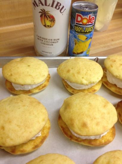 Pina Colada   Pinapple cookie with Malibu Rum filling