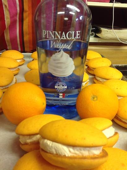 Drunken Creamsicle    Peach cookie with Whipped Vodka filling