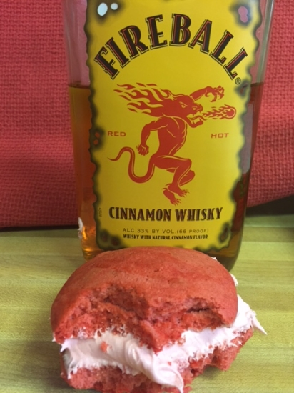 Fireball   Cinnamon cookie with Fire Ball filling