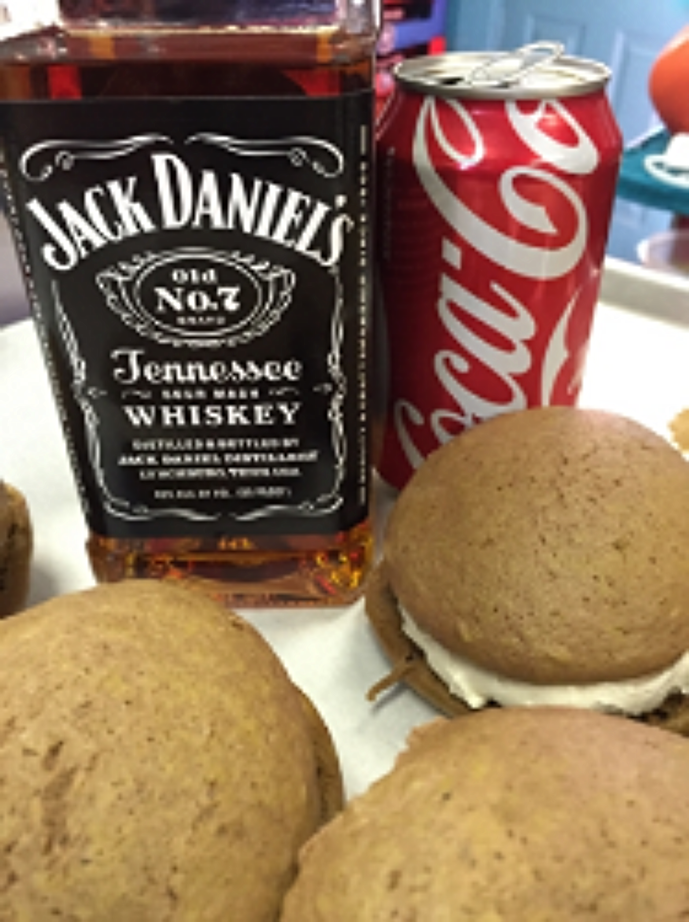Jack and  Coke   Coca -Cola Cookie with a whipped Jack Daniels filling