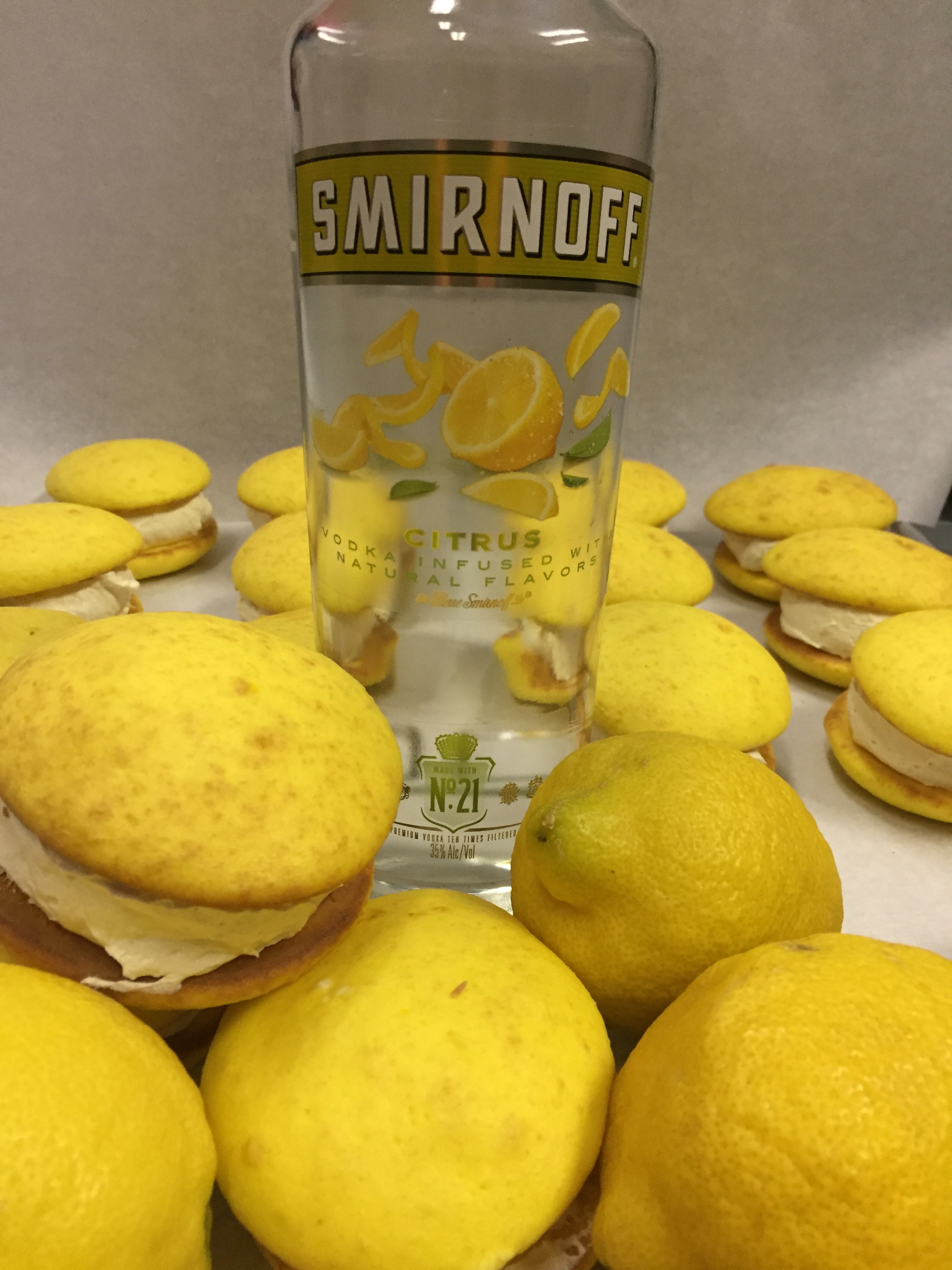 Lemon Drop   Lemon cookie with a Lemon Vodka filling