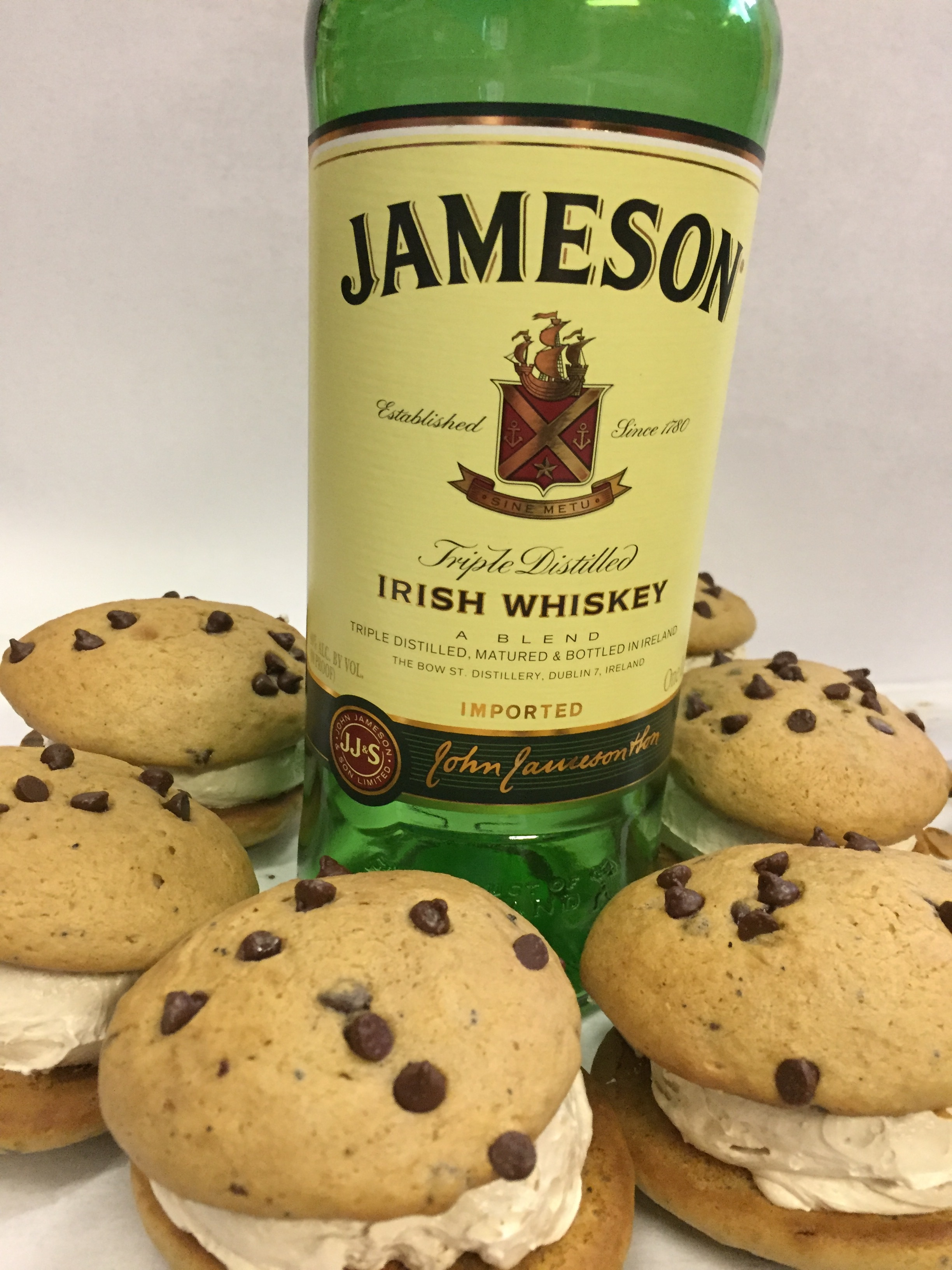 Irish Coffee   Coffee chocolate chip cookie Jameson filling