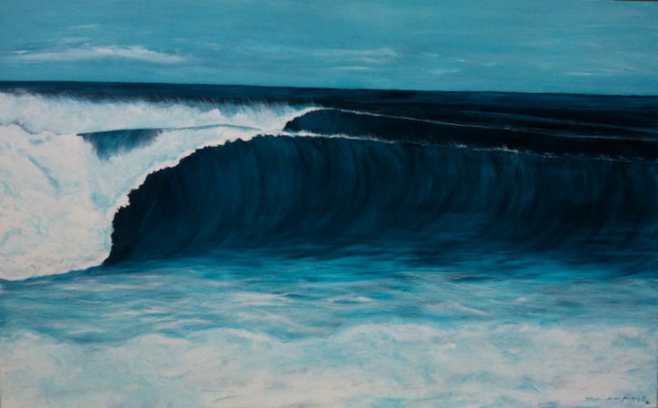 Stephanie Hudson Forsberg %22Tranquil%22 acrylic on canvas 30%22 x 48%22 donated to by raffled at the Surfers for Autism Event, June 19th at Stuart Beach.jpg
