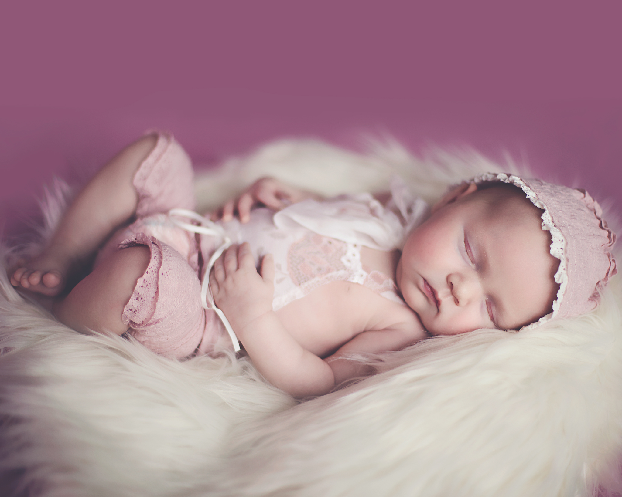 Newborn Photography on back pose