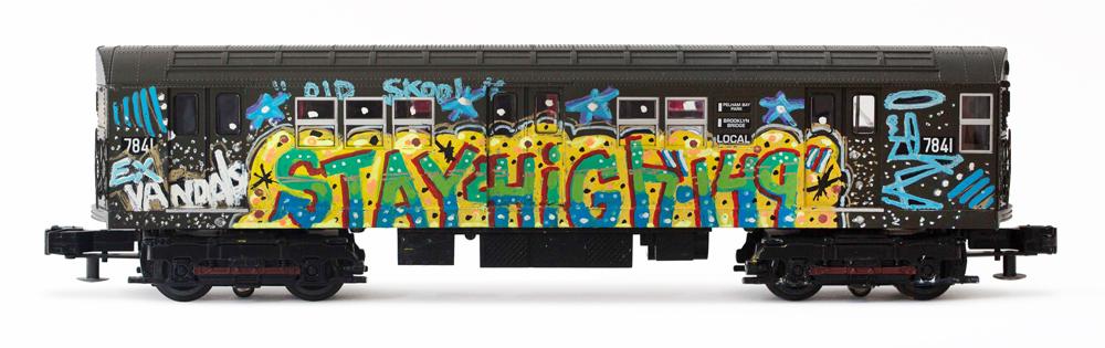 Mark Ali Awfe - Vintage Graffiti Model Train %22Stay High 149%22.jpg