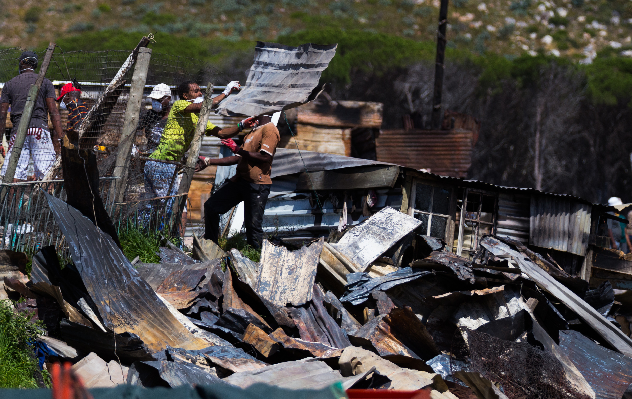 Aftermath of a Township Fire , Cape Town, South Africa