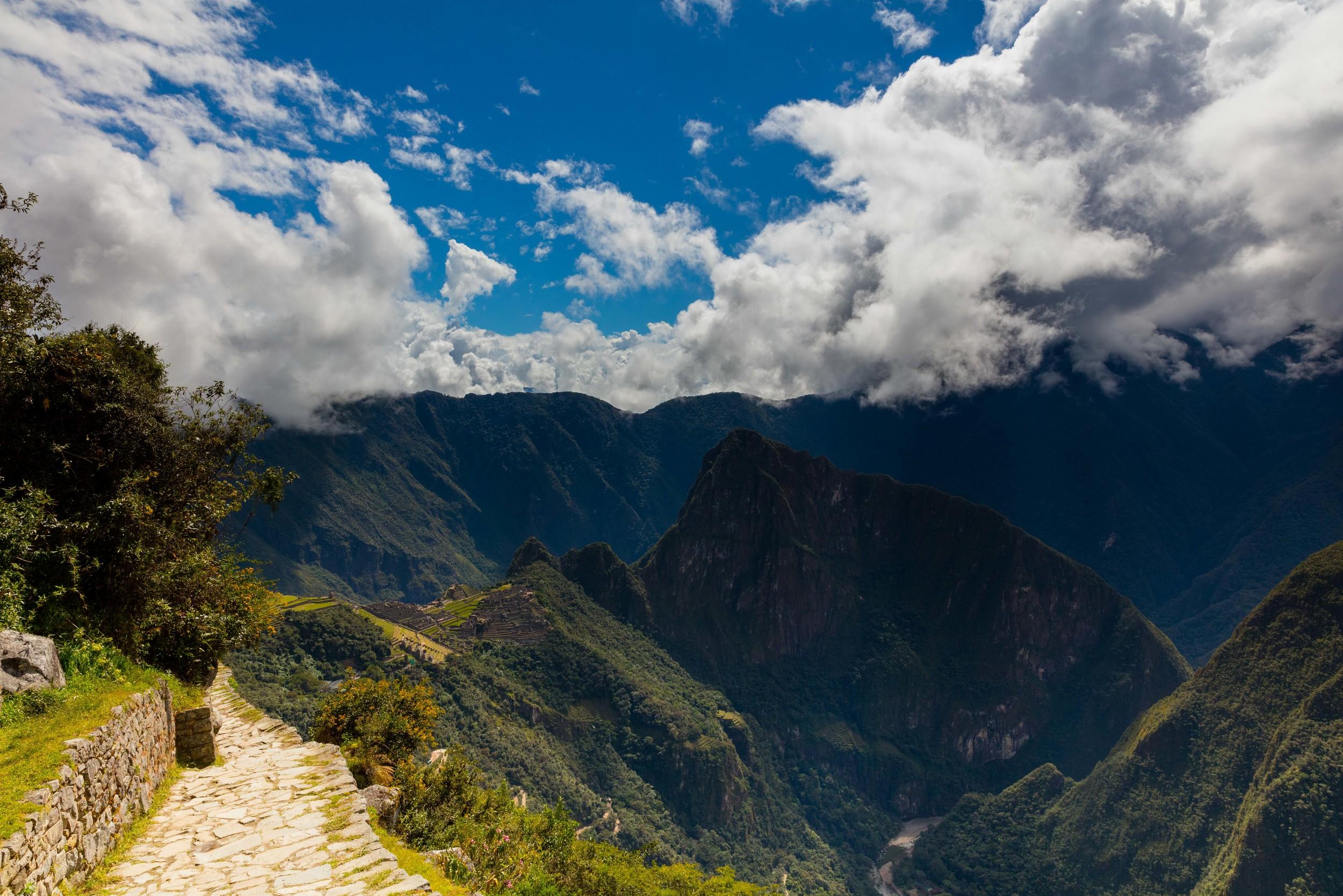 View from Sun Gate, Machu Picchu, Peru