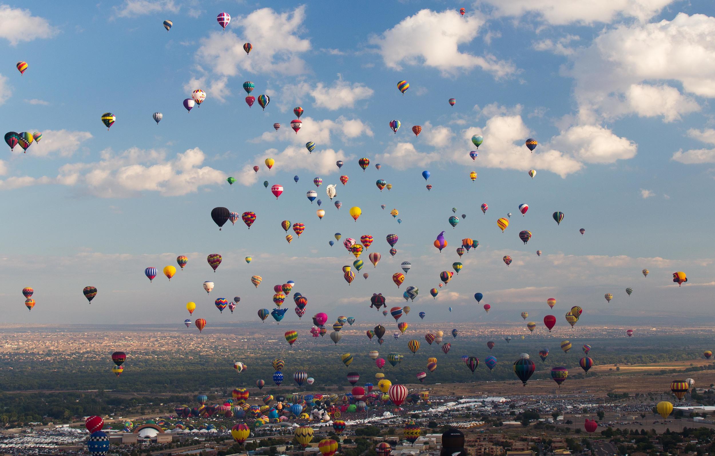 Aerial View, Albuquerque Ballon Festival, New Mexico
