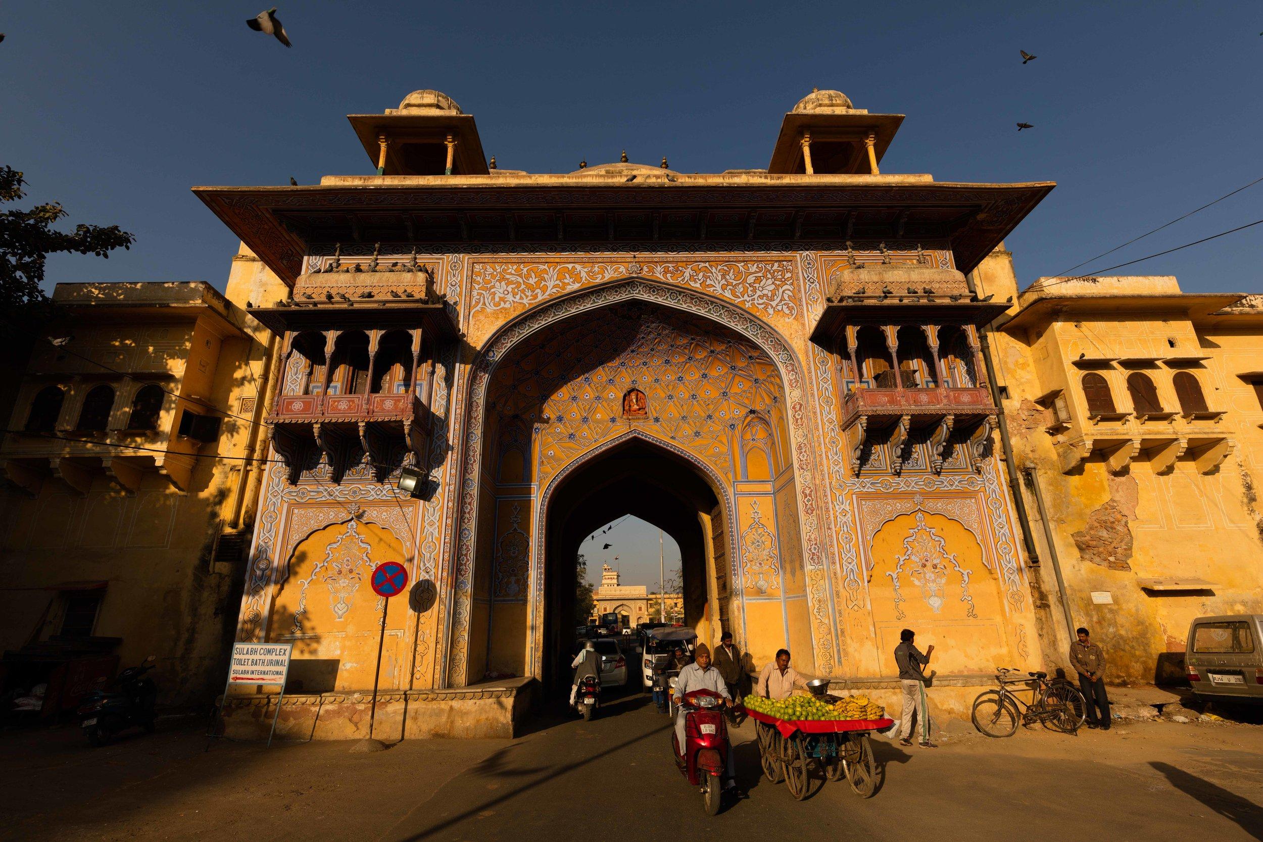 Entrance to Govind Devji Temple