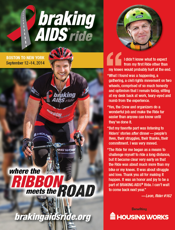 Braking AIDS Ride Ad