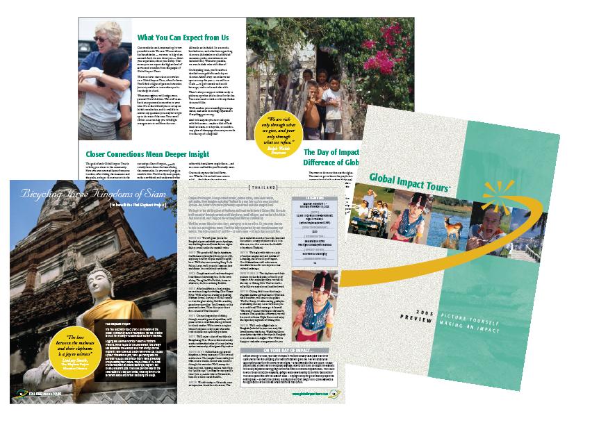 Global Impact Tours Catalog