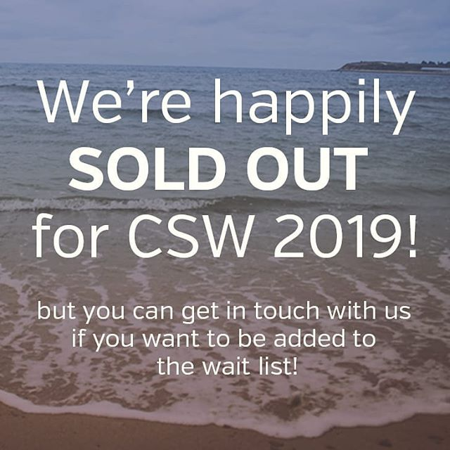 The 2019 CSW has officially sold out! 🥳 We're so thankful to all the wonderful women who are joining us and looking forward to gathering with you all! 🙌 . If you're bummed you missed out, feel free to send us a message to get put on the waiting list.