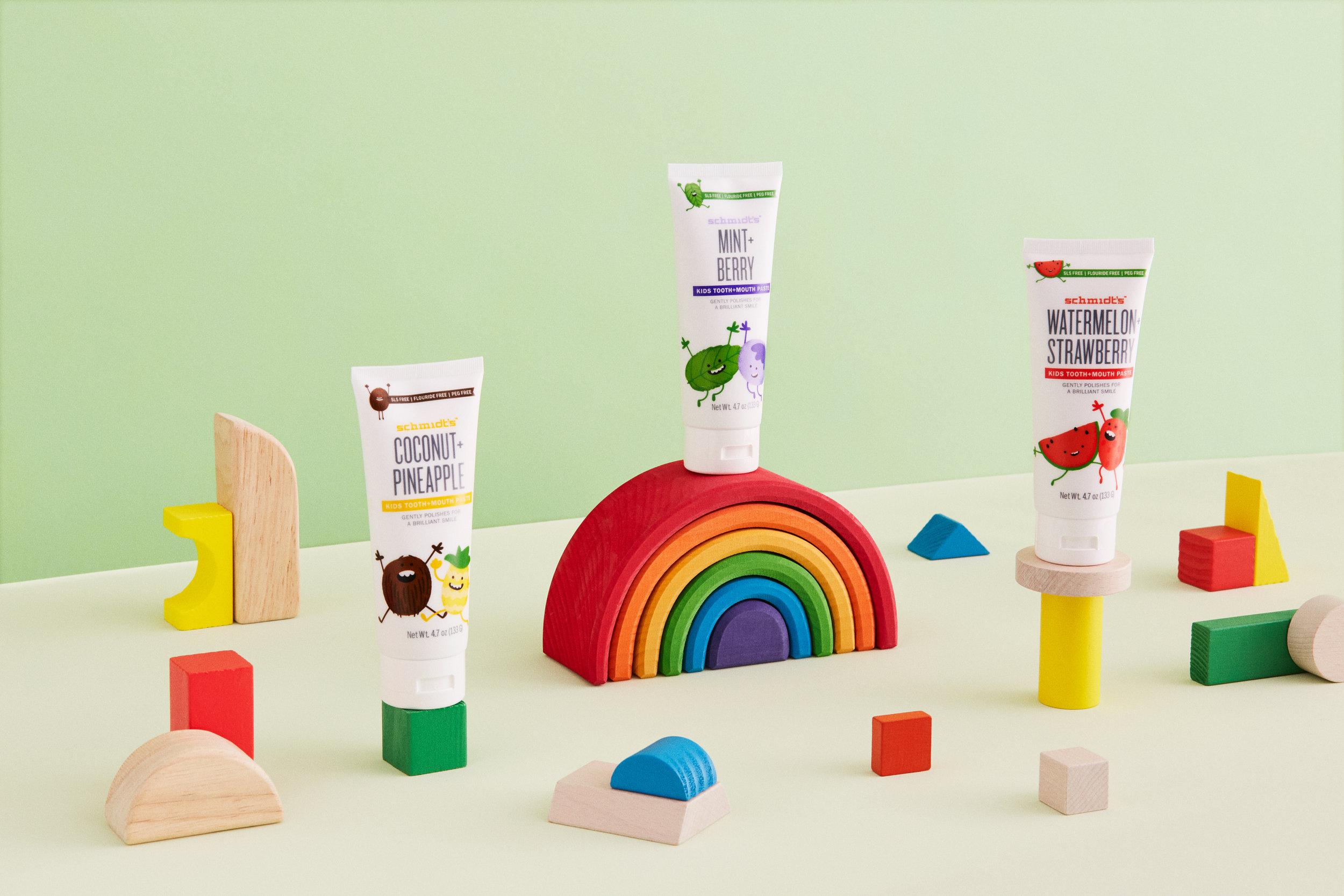 Art direction for  Schmidt's  kid's toothpaste.
