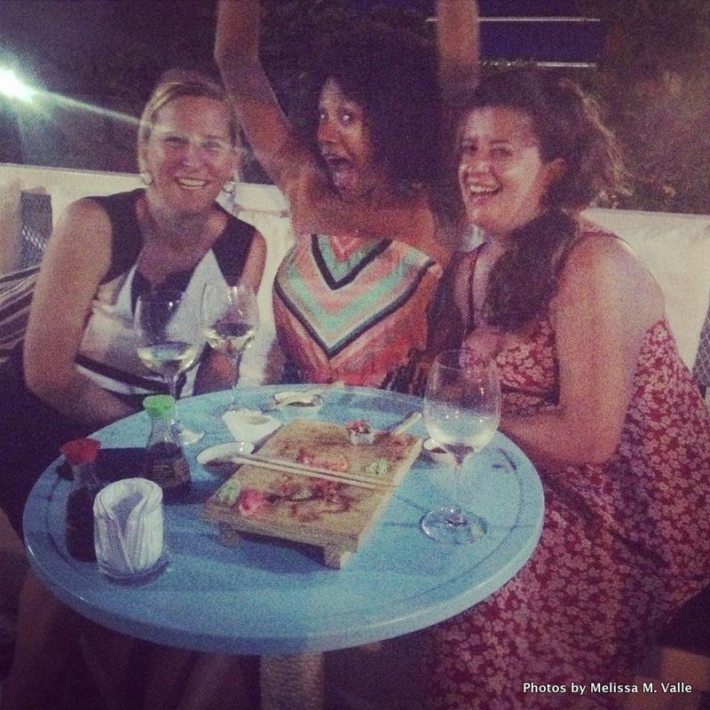 4.17.14 Me, Nathalie and Miranda at Tabetai in Bocagrande (8)-001.JPG