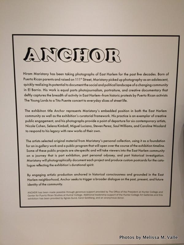 Opening night of ANCHOR at Hunter East Harlem