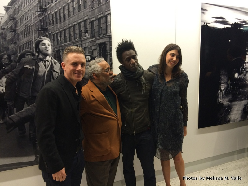 Miguel Luciano, Hiram Maristany,  Saul Williams and exhibit curator Arden Sherman