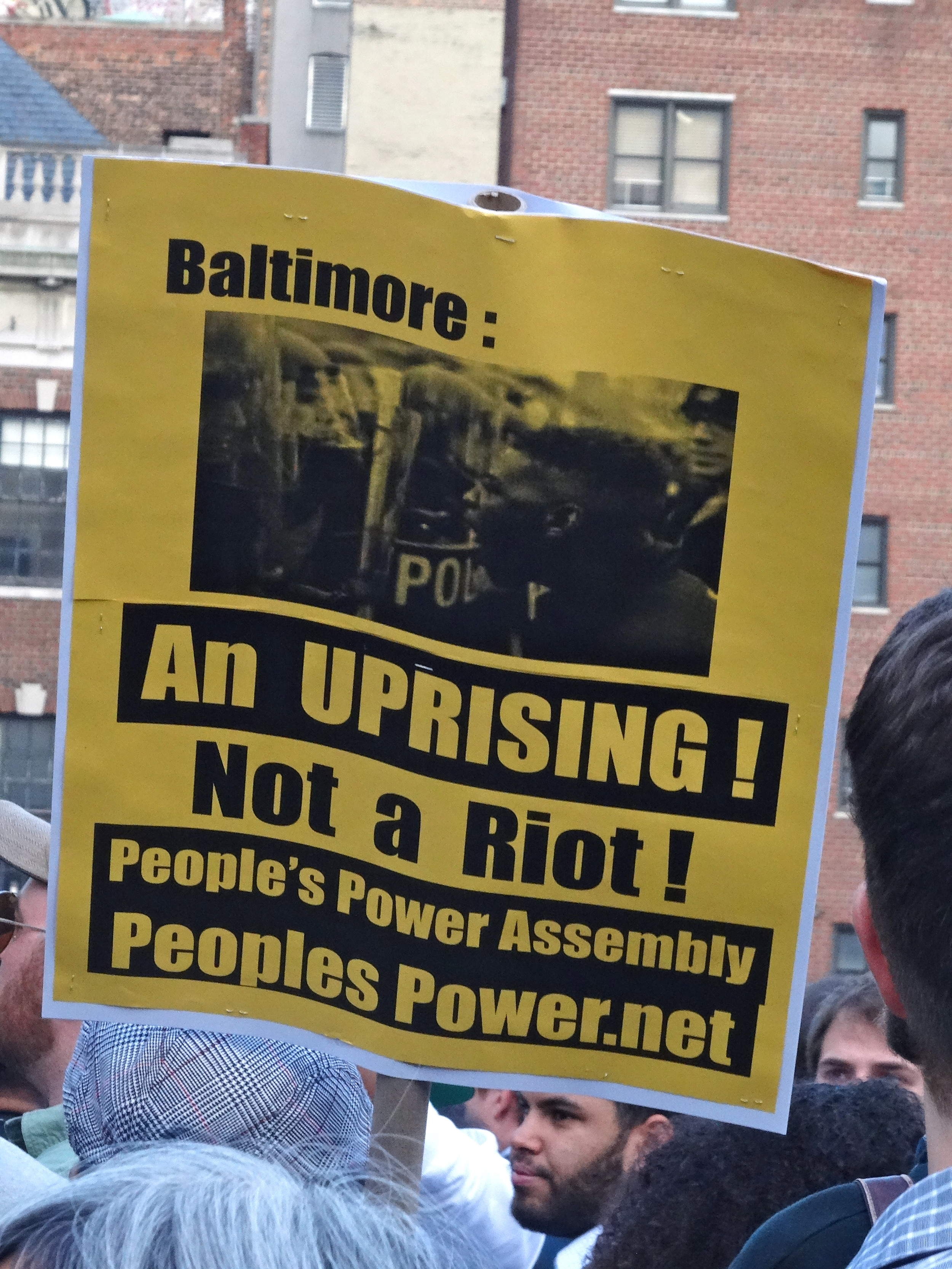 Baltimore: An uprising not a riot
