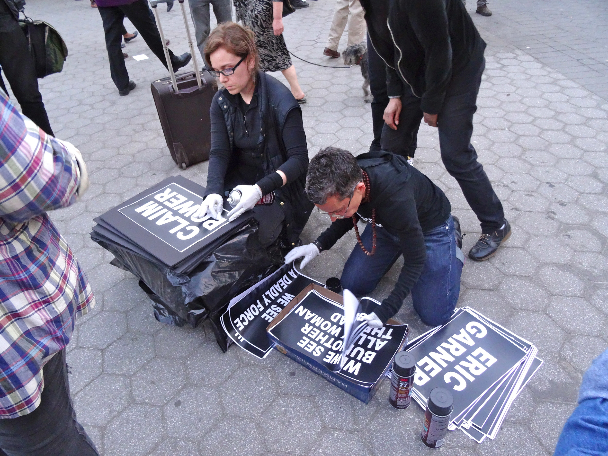 Posters for NYC to Baltimore/  NYC Rise Up Protesters