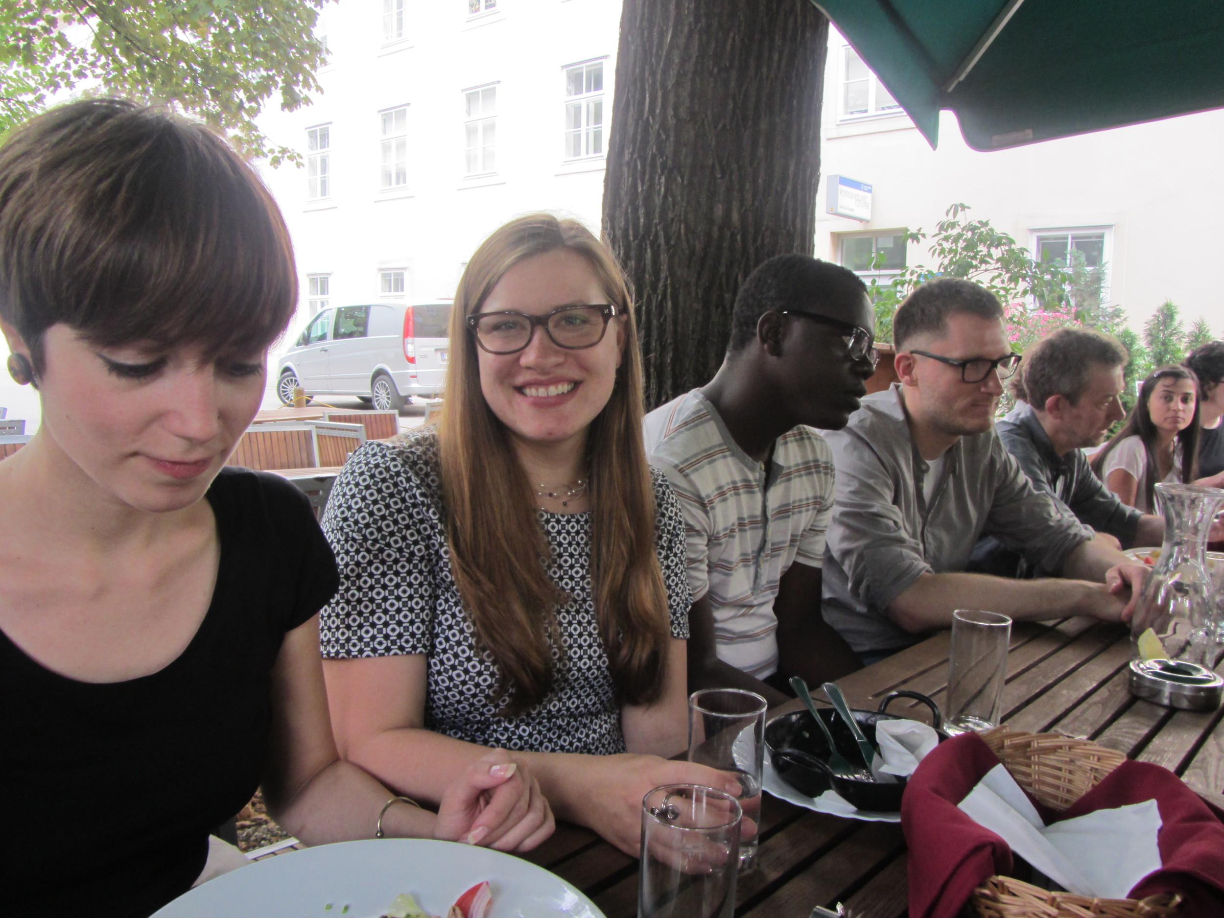 7.5.14 Vienna, Austria- First lunch with group (2).JPG