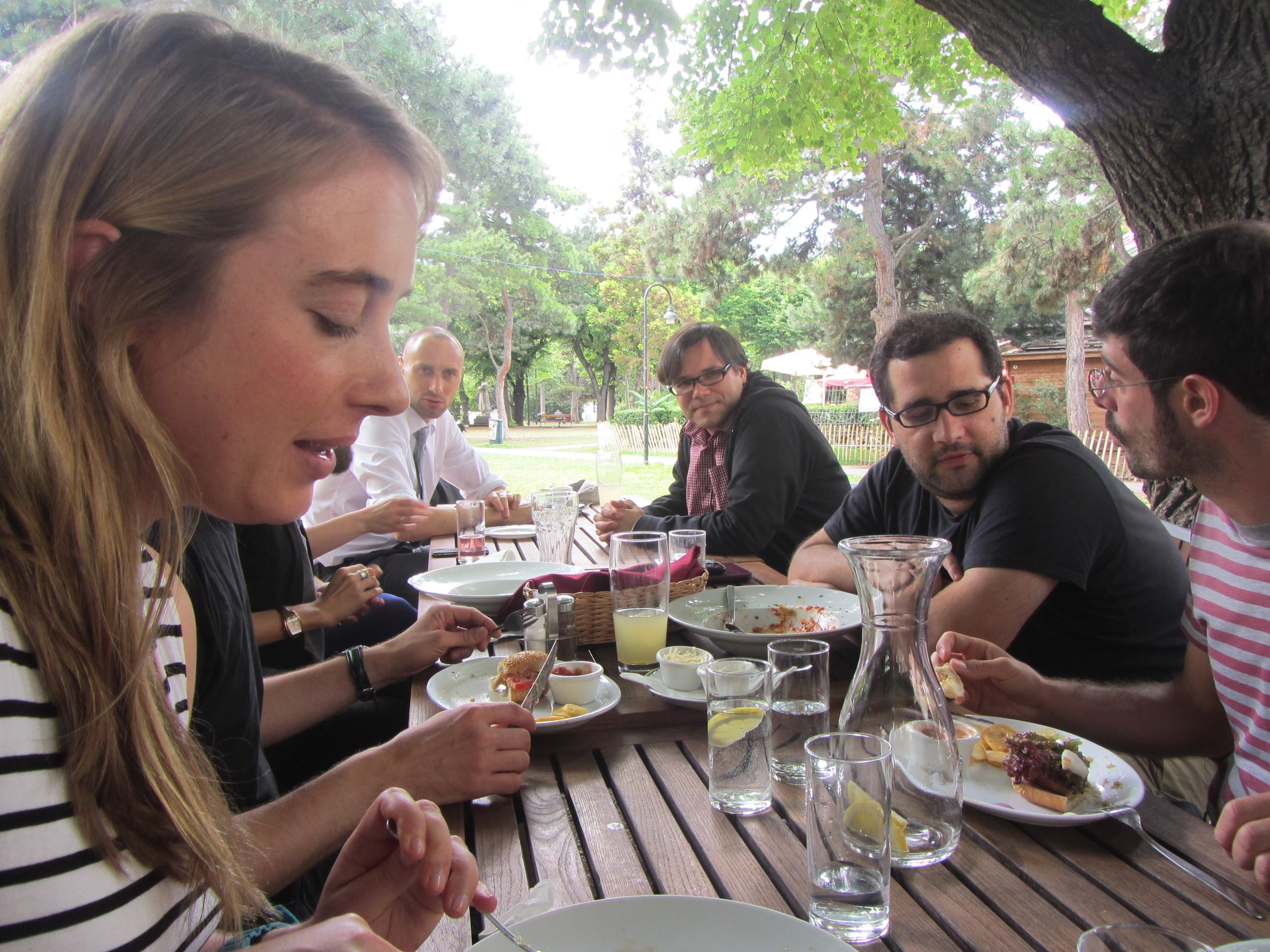 7.5.14 Vienna, Austria- First lunch with group (3).JPG