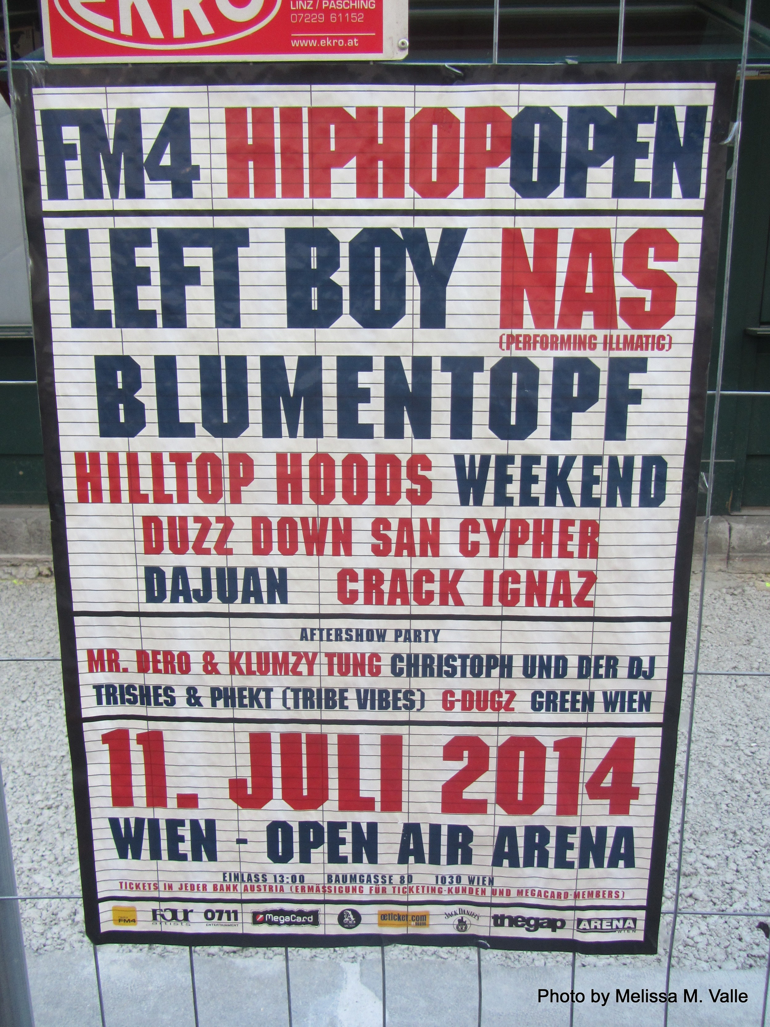 I feel that if Nas and I saw one another in Vienna we would've fallen madly in love so I was deeply saddened to be missing this show by but a few days. #OneDayBooOneLove