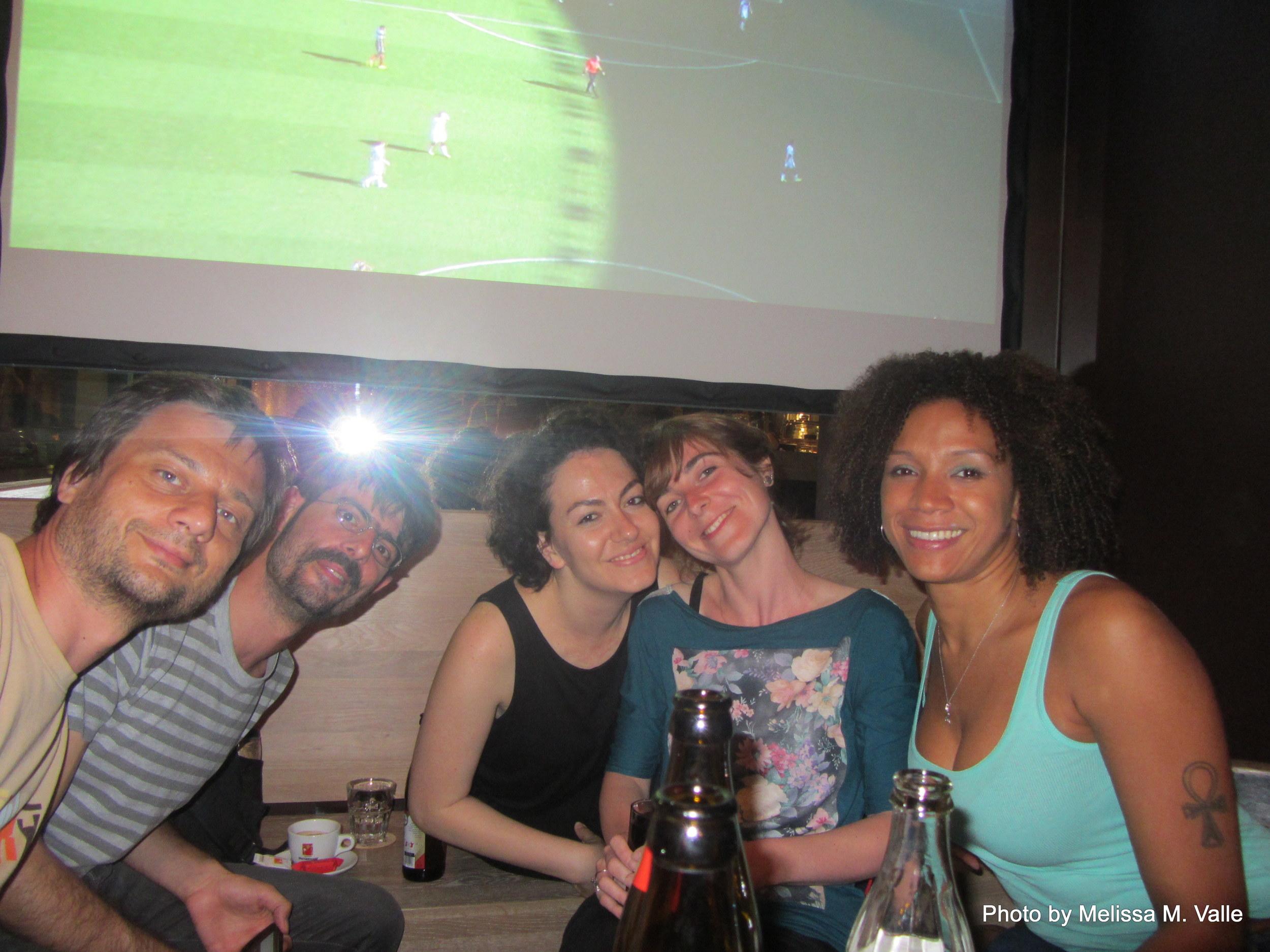 7.8.14 Vienna, Austria-Watching Brasil v Germany world cup match (7).JPG