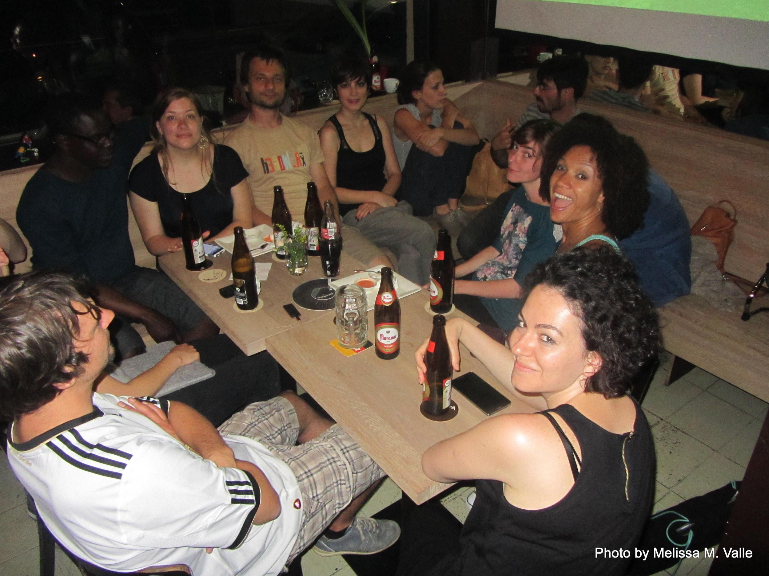 7.8.14 Vienna, Austria-Watching Brasil v Germany world cup match (8).JPG