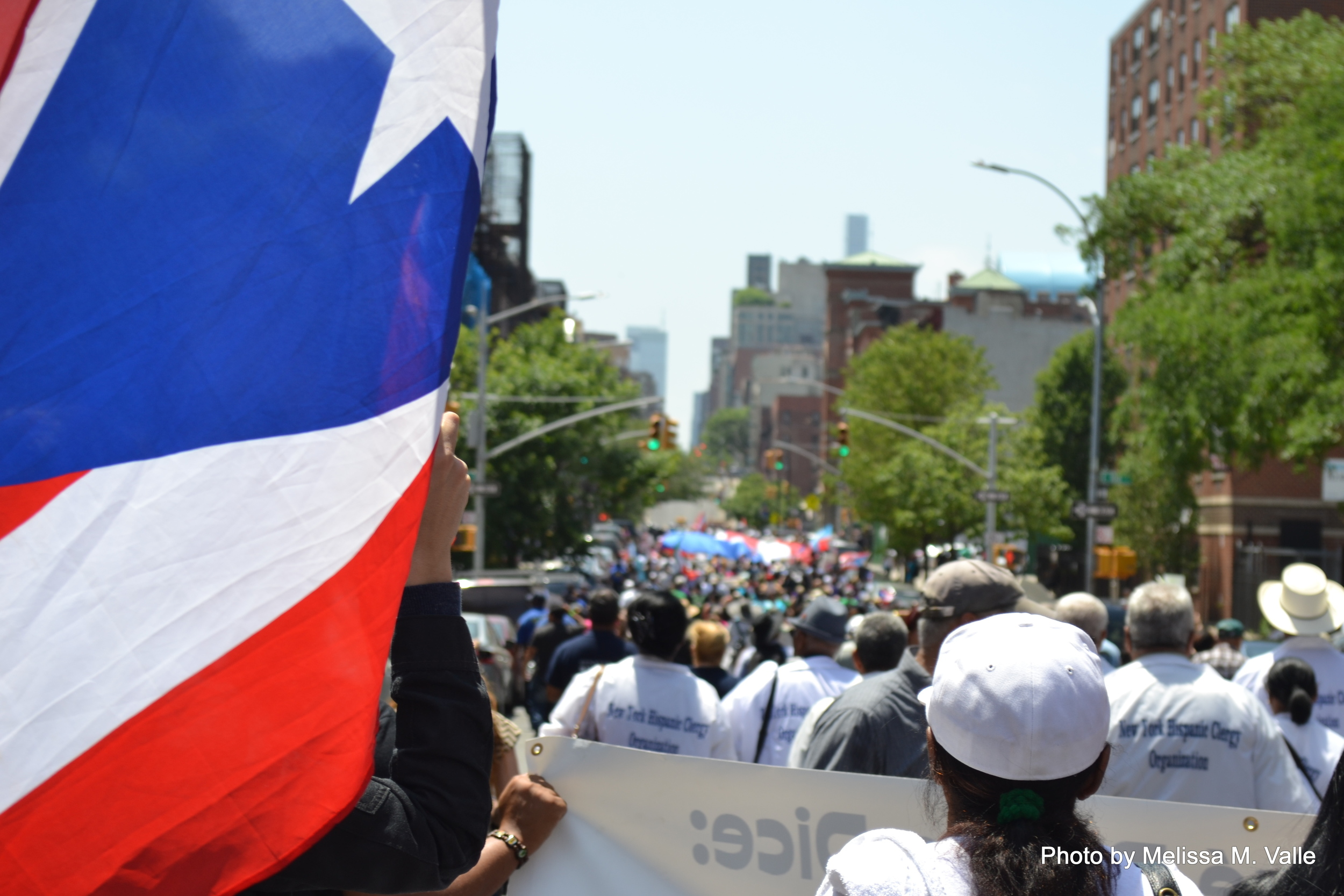March for Oscar Lopez in East Harlem by Melissa Valle