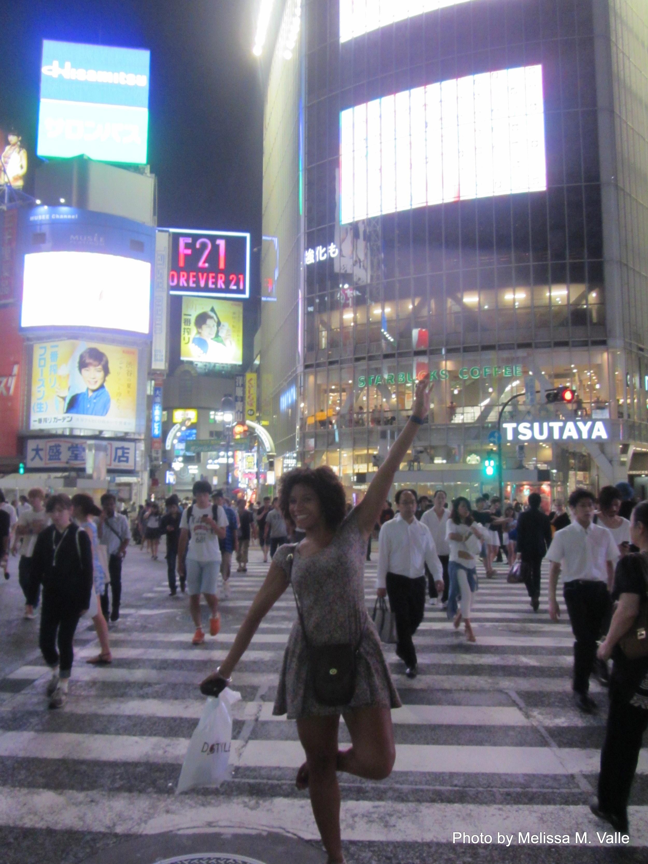 Melissa Valle in Shibuya, Tokyo, Japan