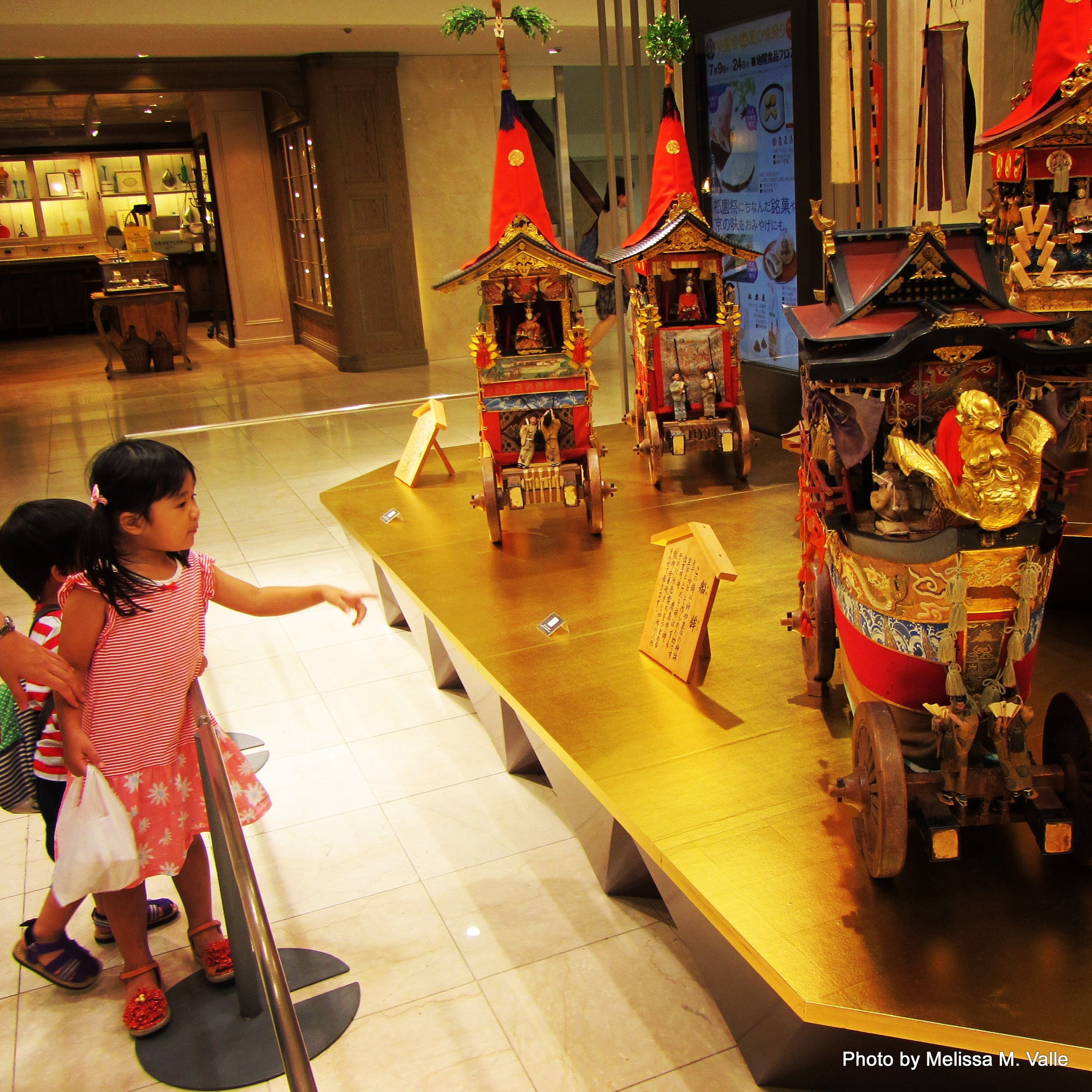 children in kyoto at mall