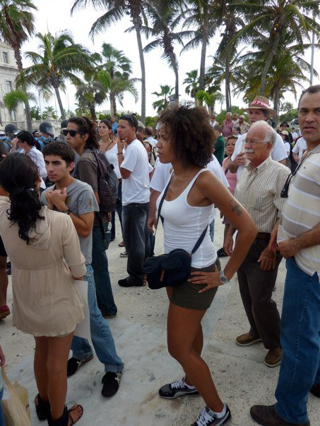 2010 Throwback: Me at University of Puerto Rico Protest. Check  Video of event  where police used pepper spray and brutally clubbed demonstrators with batons and shields.