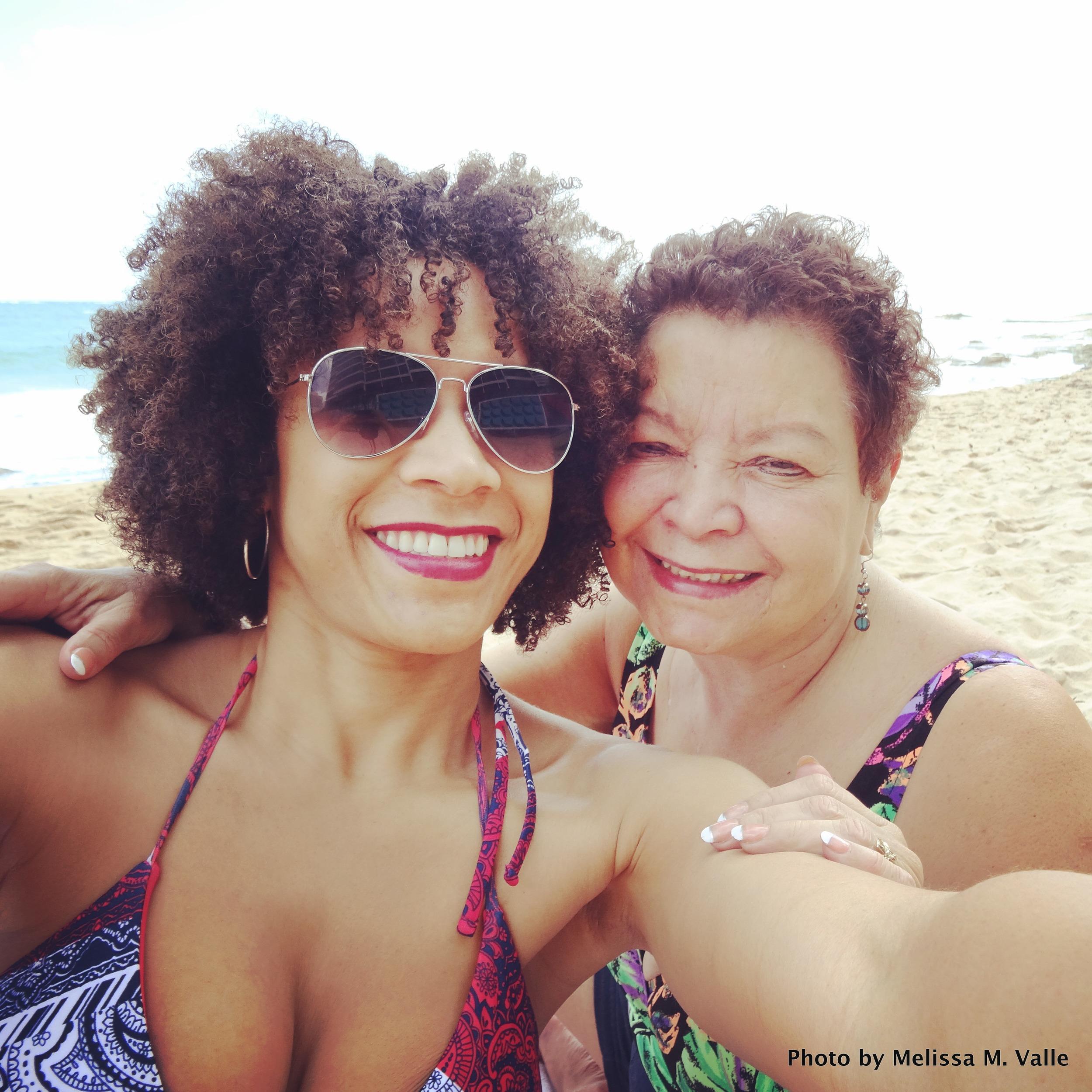 3.13.15 San Juan, PR-Me and Mami on beach in Condado IG (1).JPG