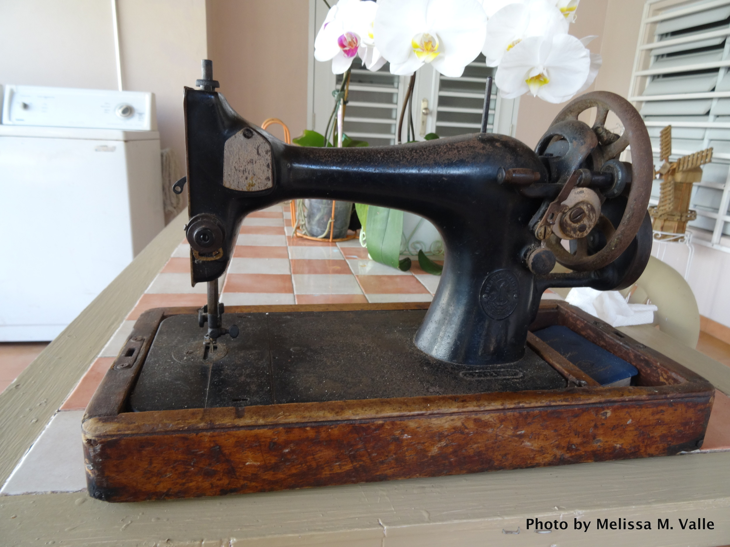 My great-grandmother's Singer sewing machine