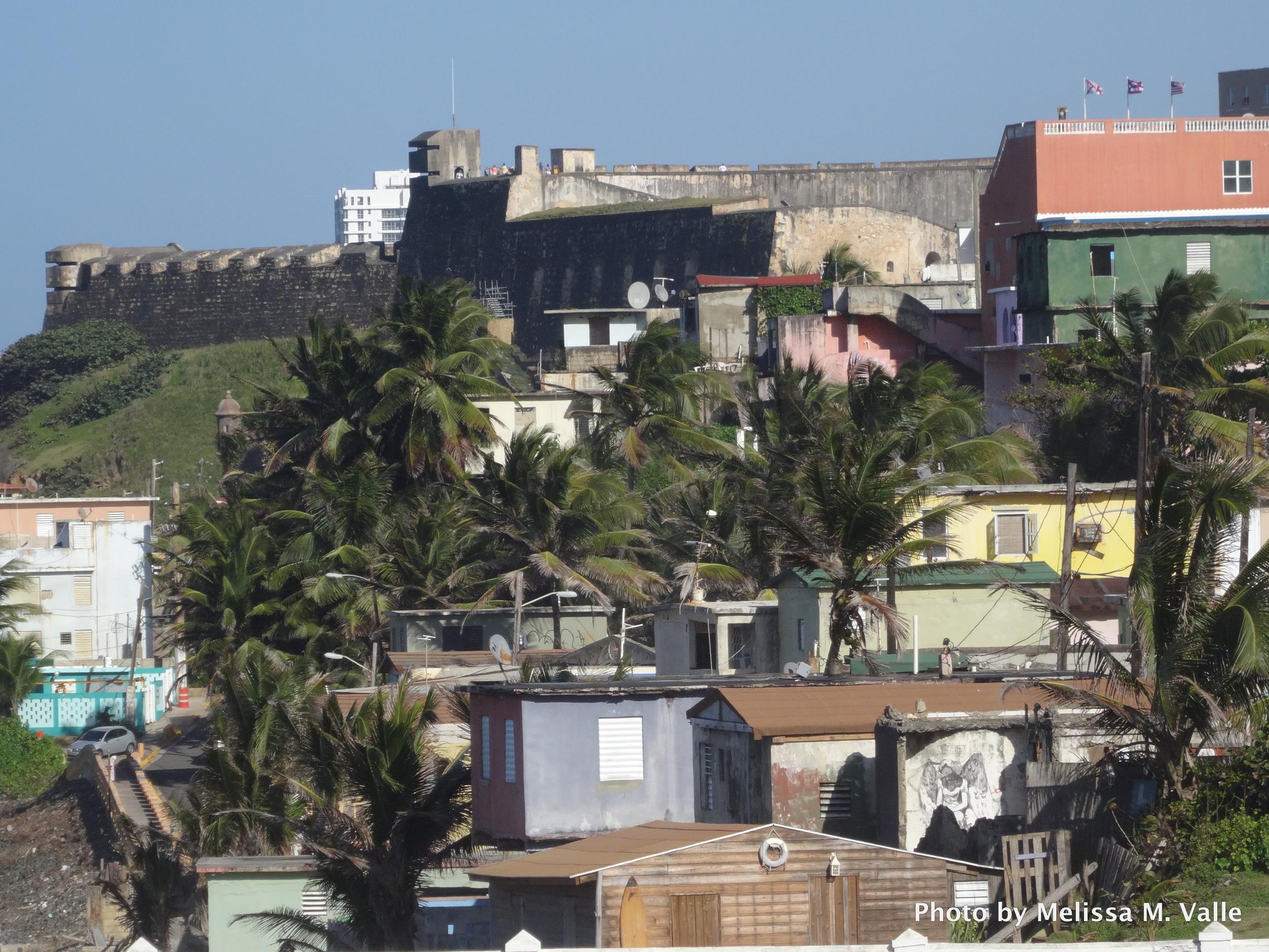 View of La Perla, San Juan, Puerto Rico