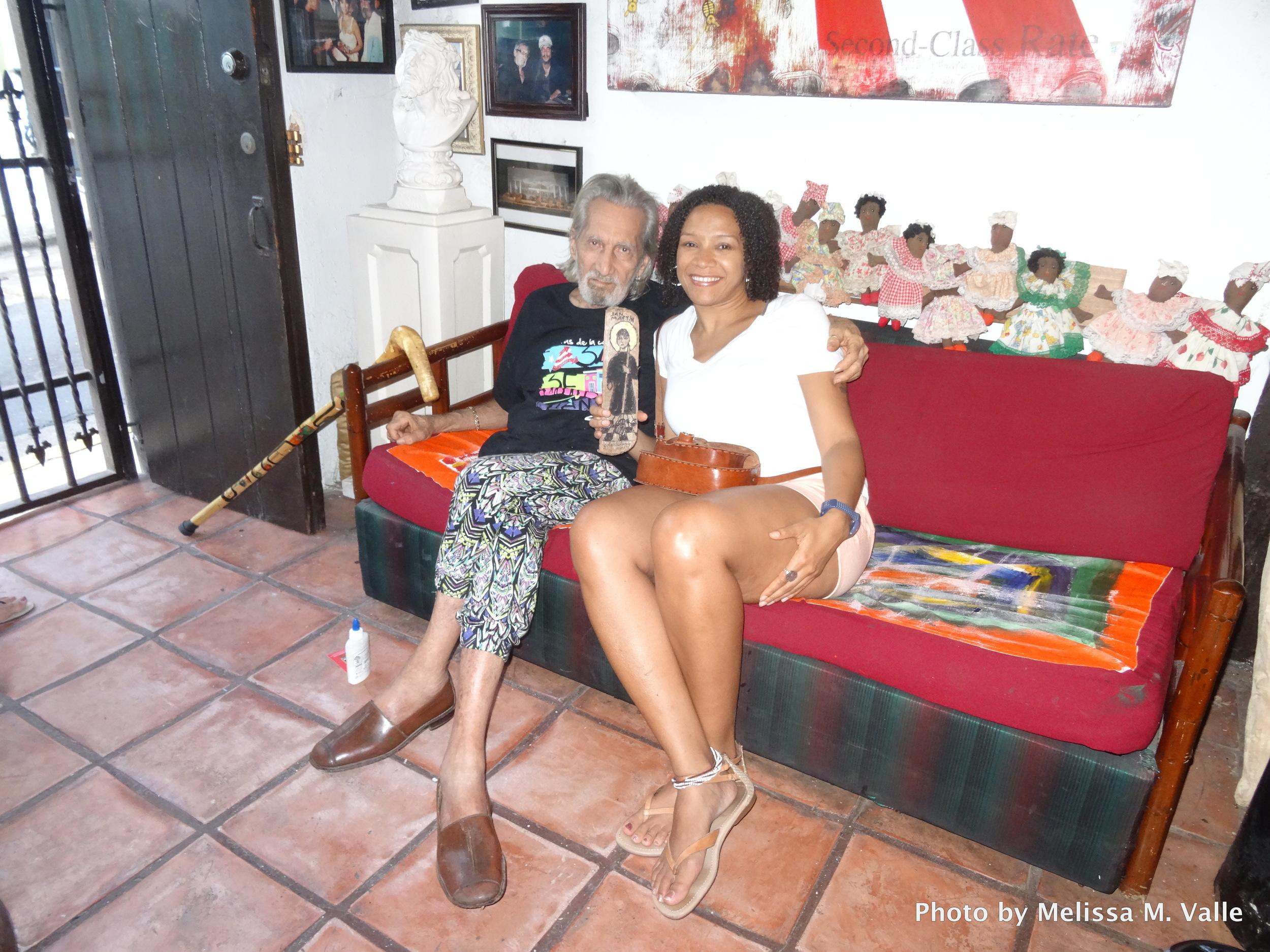 Wonderful San Juanero artist,  John Melendez , whose light-hearted nature makes mecrack up every time I see him