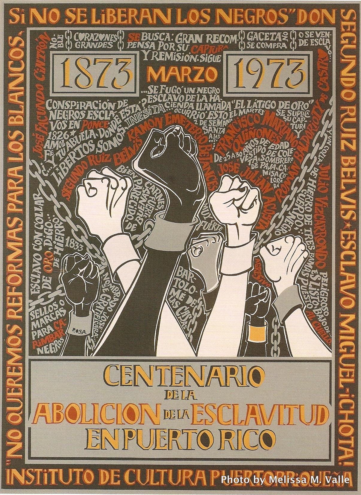 slave abolition in puerto rico serigraph