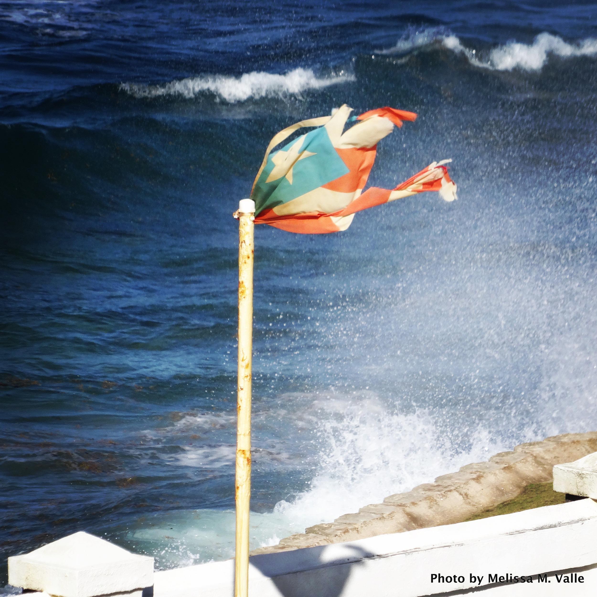 La Bandera, battered and bruised, but still flying