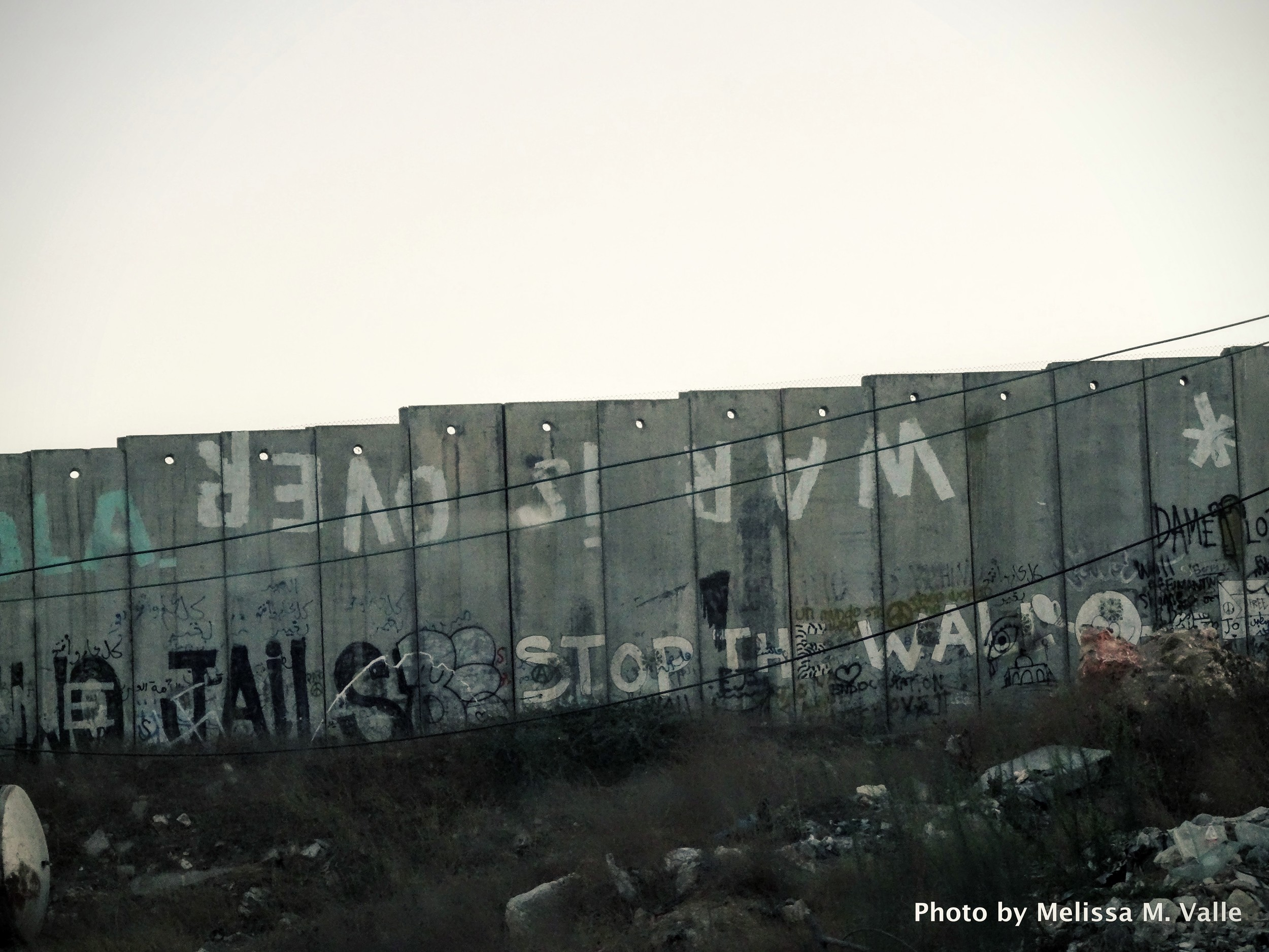 The walls of The Occupied Palestinian Territories