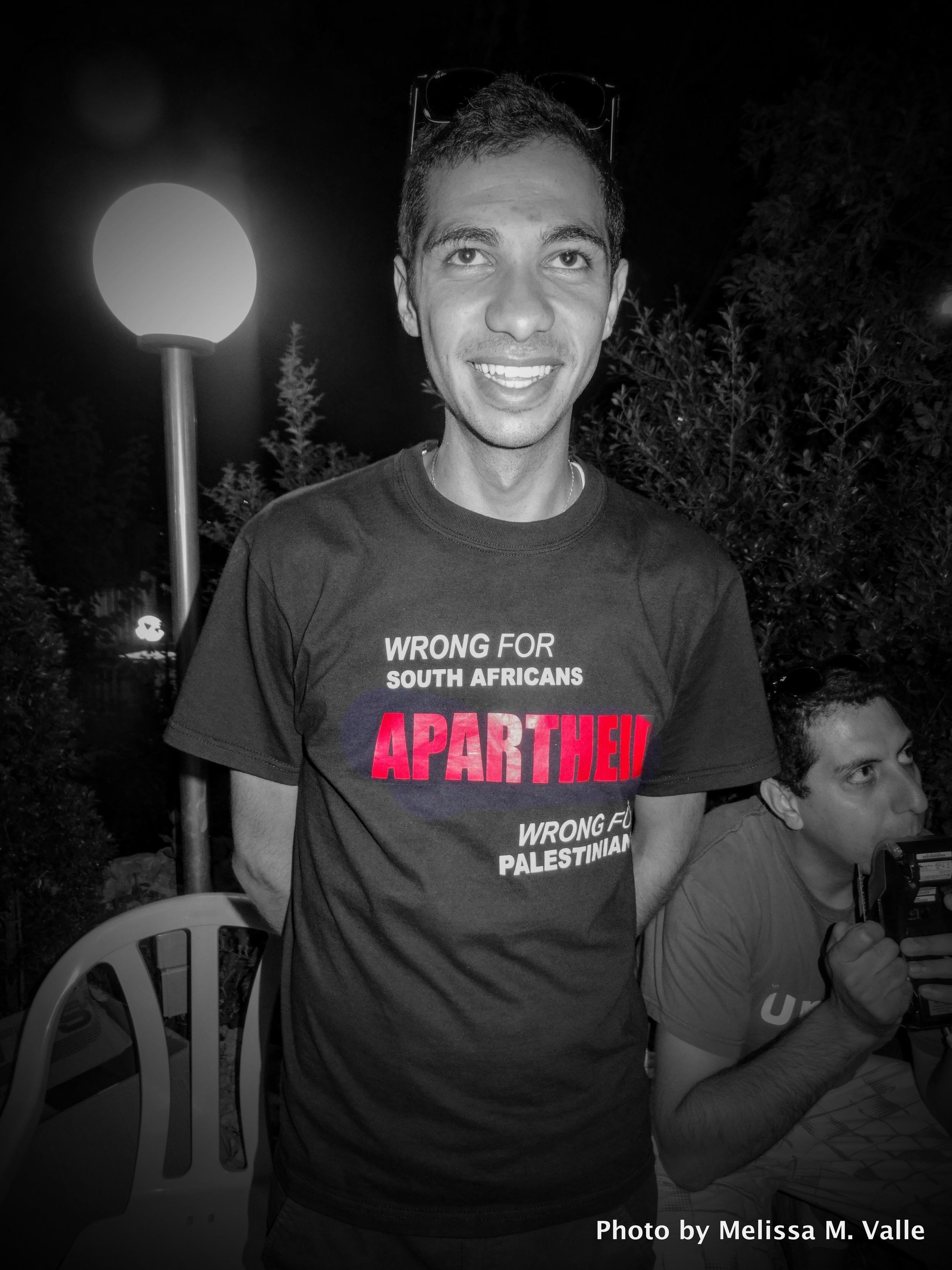 Apartheid Palestine South Africa tee